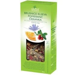 Grešík BRUSNICE KLIKVA & POMERANČ & ČEKANKA čaj 50 g